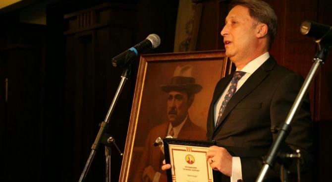 """Димитър Шумаров е носителят на приз """"Буров""""  за банково управление за 2019 г."""