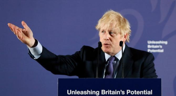 """Борис Джонсън не спомена думата """"Брекзит"""" в речта си за новите отношения за ЕС"""