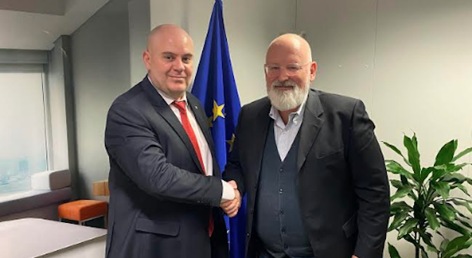 Иван Гешев и Франс Тимерманс обсъдиха укрепването на върховенството на закона в ЕС