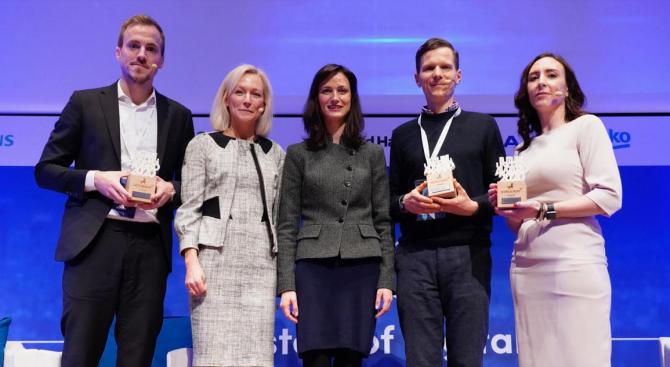 Мария Габриел награди най-успешните в Европа малки и средни цифрови предприятия