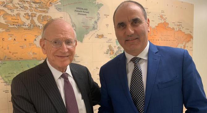 Цветан Цветанов се срещна с посланик Стюарт Айзенстат и участва в конференция за Близкия Изток в Института за международно право в Джорджтаун