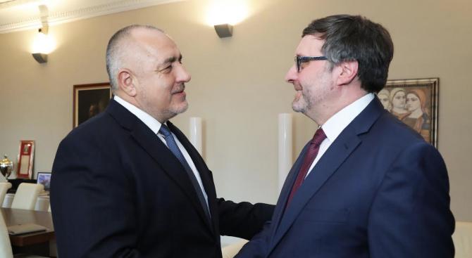 Бойко Борисов се срещна със заместник помощник държавния секретар на САЩ Матю Палмър
