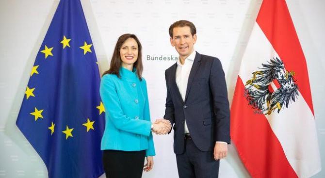 Мария Габриел и Себастиан Курц: Инвестициите в иновации, наука и образование са инвестиции в бъдещето