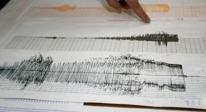 Слабо земетресение в района на Вранча