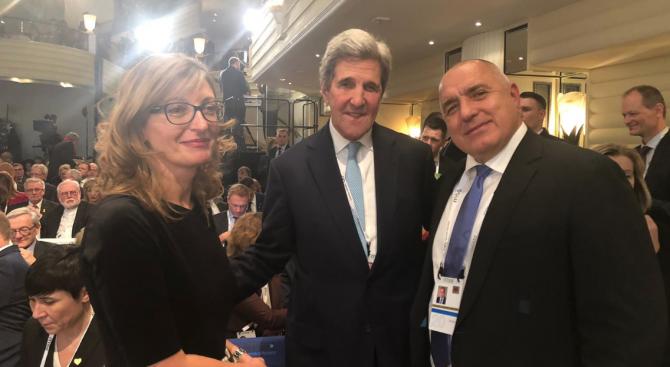 Борисов разговаря с бившия държавен секретар на САЩ Джон Кери