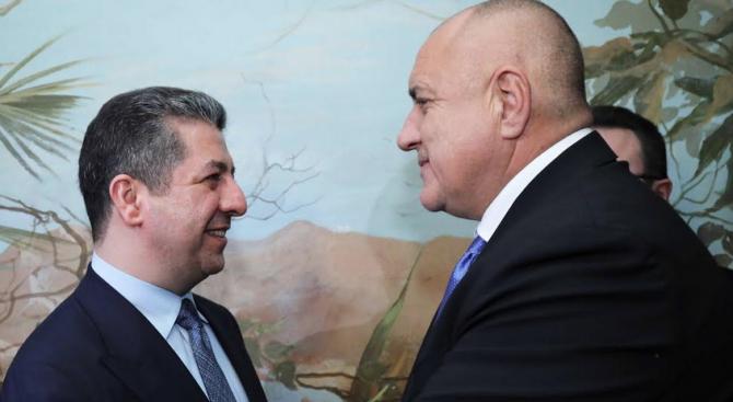 Бойко Борисов се срещна с министър-председателя на автономния иракски район Кюрдистан Масрур Барзани