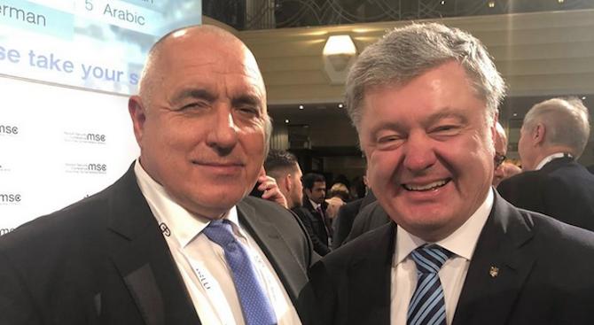 Борисов към Порошенко: Отношенията между България и Украйна са отлични