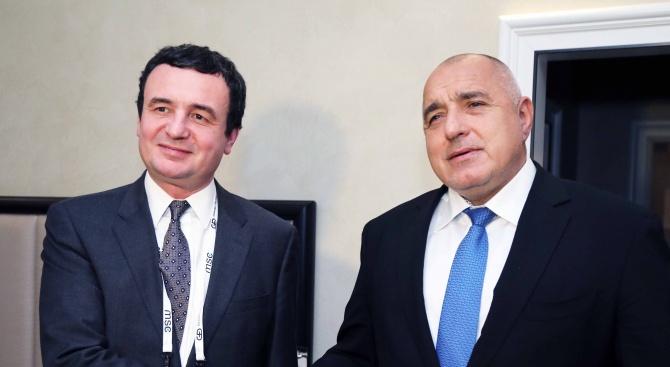 Борисов: Между България и Косово няма нерешени въпроси, а само доверие