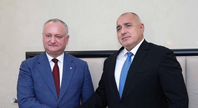 Борисов: България и Молдова се възприемат като важни и приоритетни партньори
