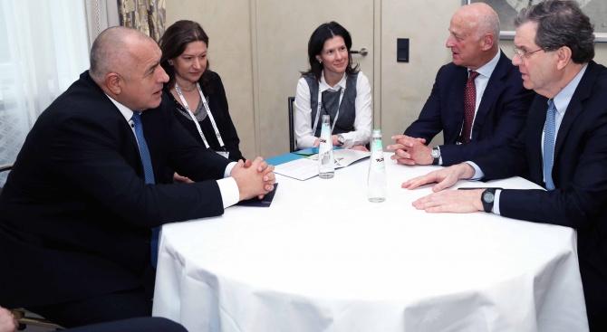 Премиерът Борисов се срещна с изпълнителния директор на Американския еврейски комитет Дейвид Харис