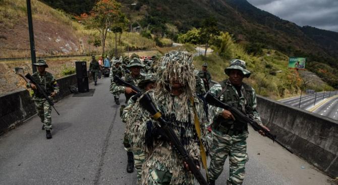 Мадуро разпореди мащабни военни учения във Венецуела