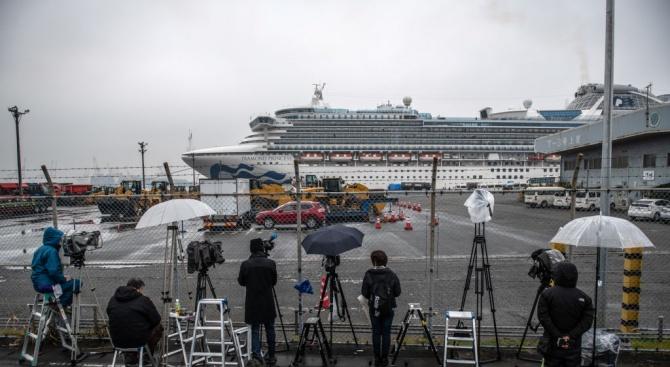 Още 99 носители на коронавируса бяха установени на круизния кораб в Япония