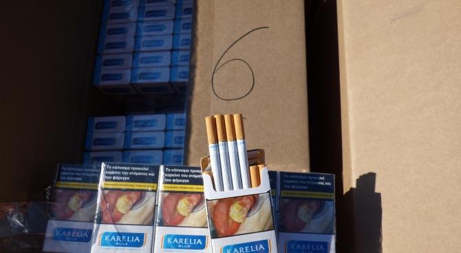 Спипаха контрабандни цигари за над 120 бона