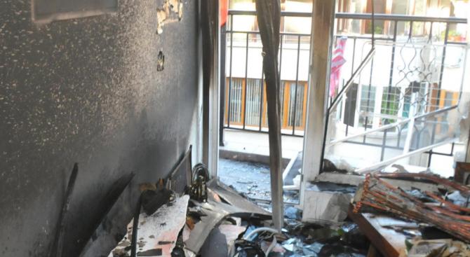Взрив на газова бутилка в град Твърдица