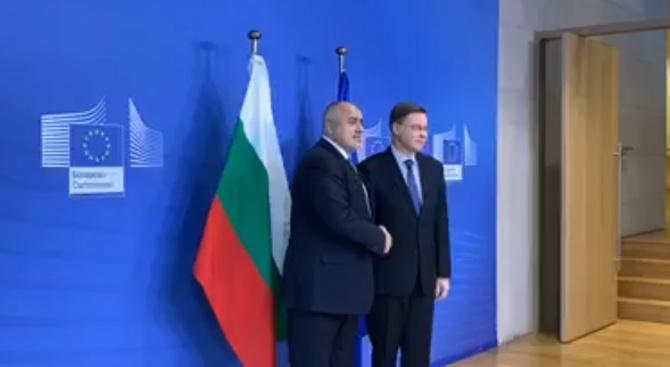 Борисов се срещна със зам.-шефа на ЕК Валдис Домбровскис