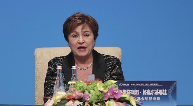 Кристалина Георгиева съобщи за понижени прогнози на МВФ за икономическия растеж на Китай и света