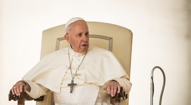 """Папа Франциск се изказа днес срещу """"несправедливите решения"""" на израелско-палестинския конфликт"""