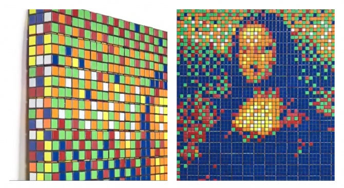 Мона Лиза от кубчета Рубик - продадена на търг за 480 000 евро