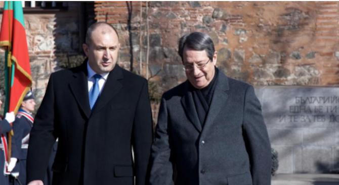Президентът Радев: Кипър е наш важен икономически и търговски партньор