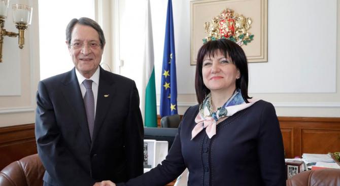 Караянчева: Между България и Кипър са изградени добри политически, търговски и културни връзки