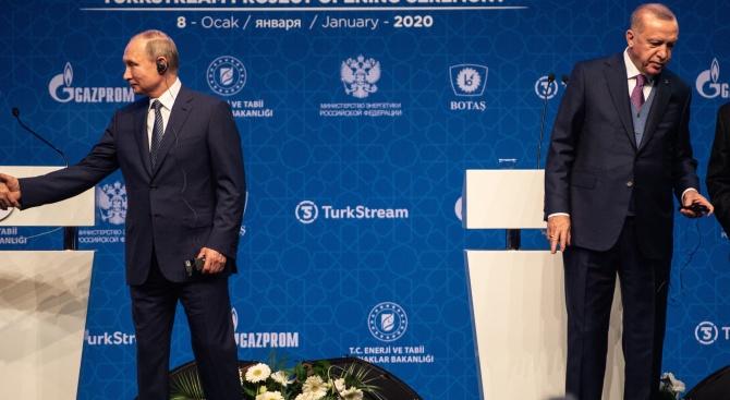 Владимир Путин се чу с Реджеп Ердоган