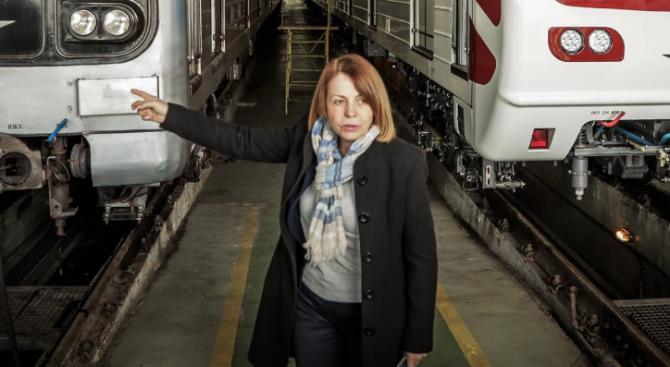 Фандъкова показа първите два модернизирани влака за метрото