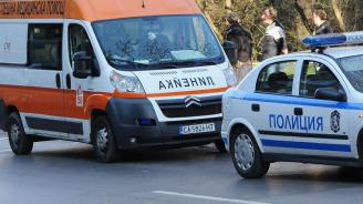 Тежка катастрофа между такси и ТИР