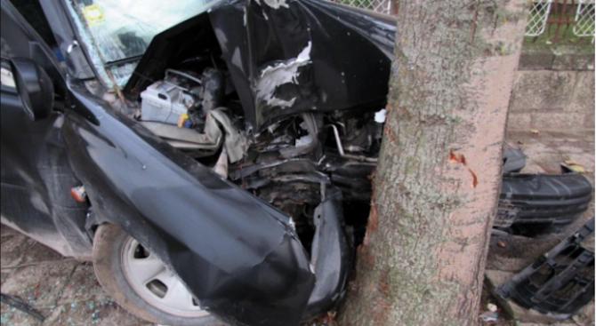 Шофьор без книжка се заби в крайпътно дърво, загина 20-годишномомиче,съобщиха