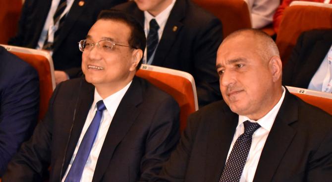 Министър-председателят Бойко Борисов проведе телефонен разговор с премиера на Китай