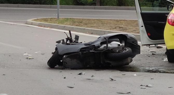 Моторист пострада при катастрофа в Трудовец