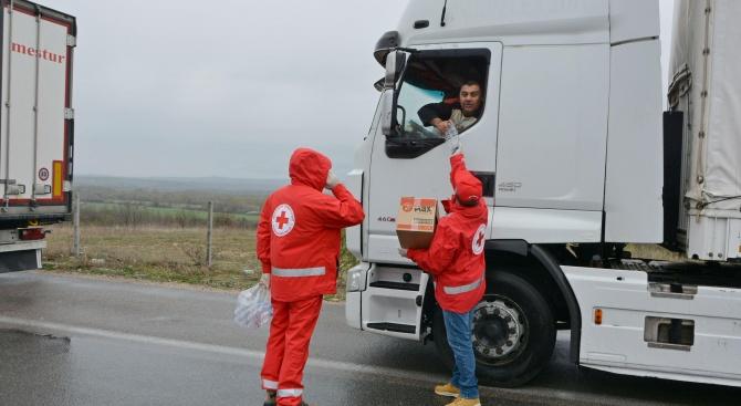 """БЧК с акция в помощ на шофьорите, блокирани за """"Капитан Андреево"""""""