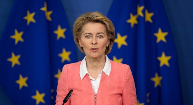 Фон дер Лайен порица държавите от ЕС, които в началото на епидемията са проявили егоизъм