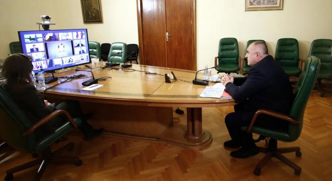 Започна участието на Бойко Борисов в онлайн заседанието на Европейския съвет