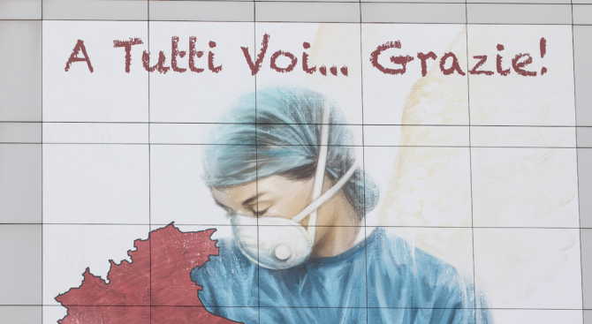 """Италия """"се приближава"""" до пика на заразата"""