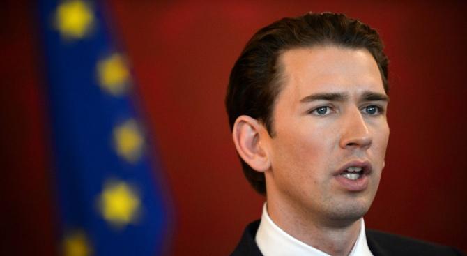 Австрийския канцлер Себастиан Курц заяви в интервю за в.