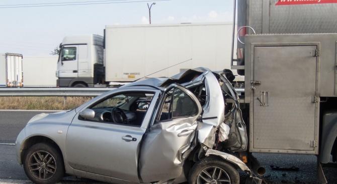 Катастрофа с един ранен човек е станала на пътяАйтос -