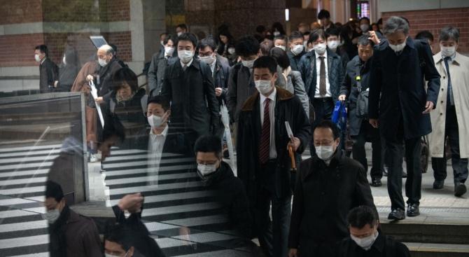 Броят на регистрираните заразени с новия коронавирус в Япония се