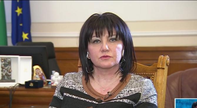 Цвета Караянчева: Депутатските заплати не трябва да се замразяват