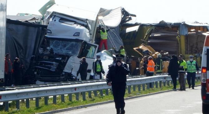 Прокуратурата с подробности за тежката катастрофа на АМ Марица, при която загинаха двама души