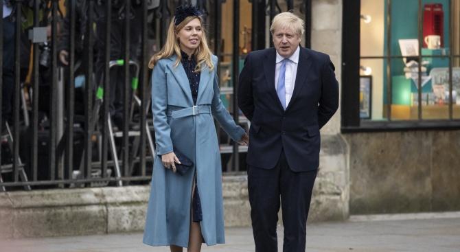 Бременната годеница на британския премиер Борис ДжонсънБорис Джонсън е британски