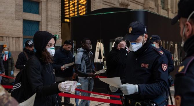 Над 9300 глобени в Италия само за ден за неспазване на самоизолацията