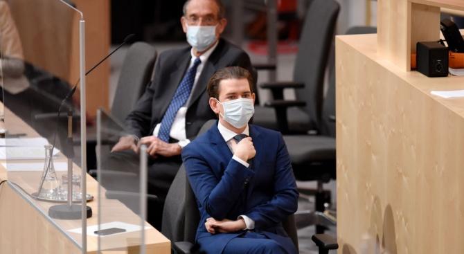 Австрийското правителство обяви днес, че ще започне да облекчава стриктните