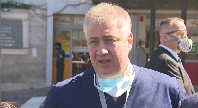 """Шефът на """"Пирогов"""" с подробности за пациентите с коронавирус в болницата"""