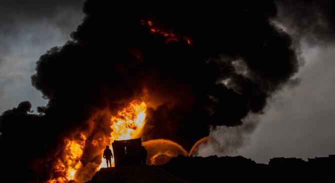 Площта на пожара в Чернобилската забранена зона се е увеличила