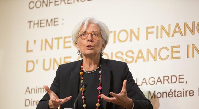 Председателката а Европейската централна банка (ЕЦБ) Кристин Лагард Кристин Лагард