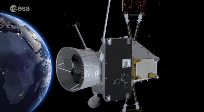 """""""Бепи Коломбо"""" се сбогува със Земята, отива към Меркурий"""