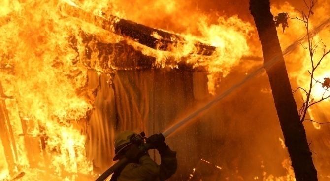 Труп след пожар в Борован