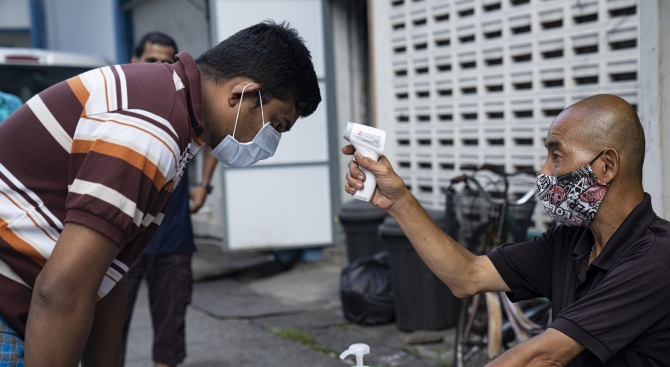Министерството на здравеопазването на Сингапур днес потвърди 942 нови инфекции