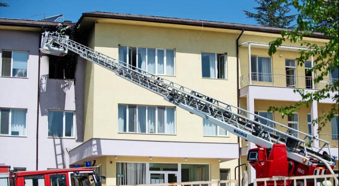 Прокуратурата разкри каква е най-вероятната причина за пожара в старческия дом в Благоевград