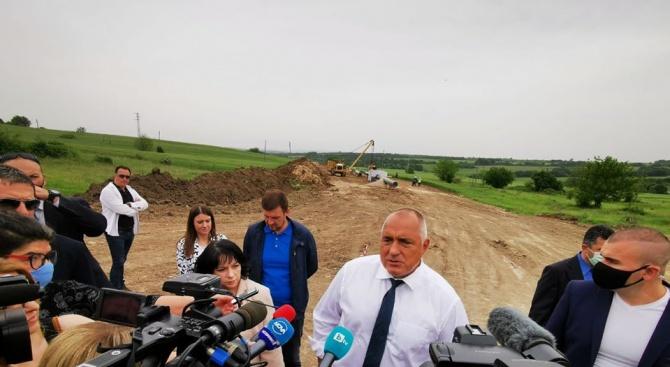 """Напредва строителството на разширението на Околовръстното на София между """"Цариградско"""